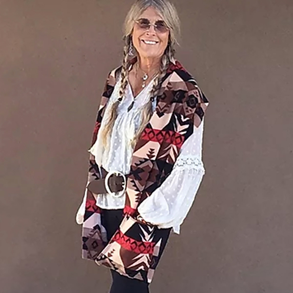Kangaroo Girls™ Peaceful Warrior Fleece Pocket Scarf © Gail Russell Art & Apparel, Taos, New Mexico