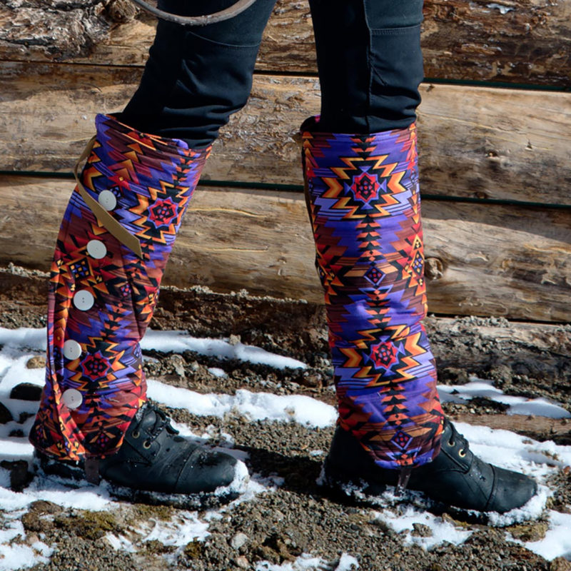 SallyGators® leg warmers - Patterned Cotton - by Gail Russell Art & Apparel, Taos, New Mexico