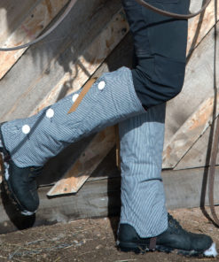 SallyGators® leg warmers - Denim - by Gail Russell Art & Apparel, Taos, New Mexico