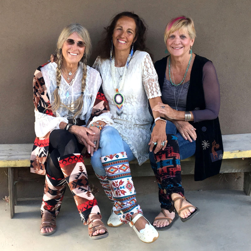 SallyGators® Leg Warmers in Southwestern Fleece by Gail Russell Art & Apparel, Taos, New Mexico