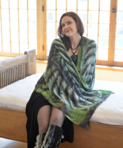 Gazelle Shawl - Silver Elephant Ear - by Gail Russell Art & Apparel, Taos, New Mexico