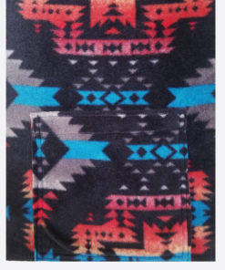 KangarooGirls™ Black Canyon Southwestern Style Scarf in Fleece by Gail Russell Art & Apparel, Taos, New Mexico