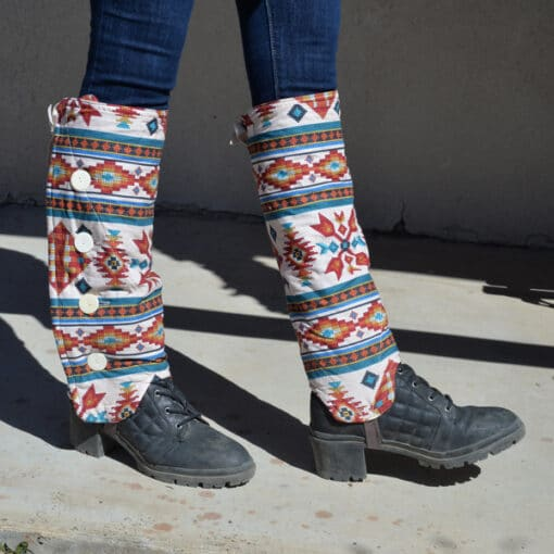 SallyGators™ Patterned Cotton Leg Warmers copyright Gail Russell
