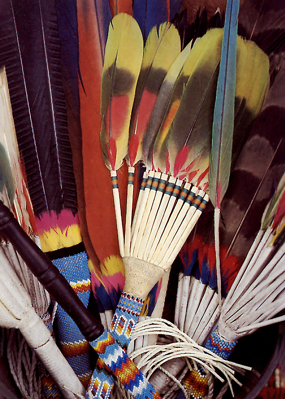 Ceremonial Fans - Taos, New Mexico - photograph by Gail Russell